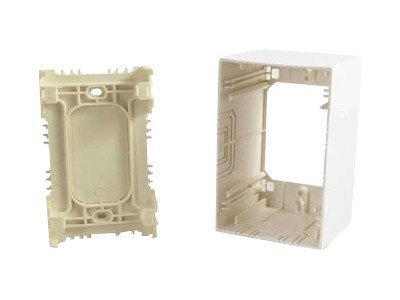 C2G Single-Gang, Extra Deep Junction Box, White, 53654, 11164182, Premise Wiring Equipment