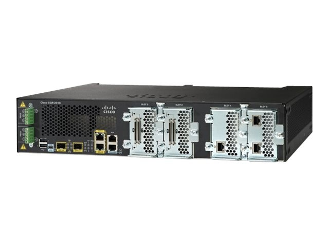 Cisco CTO. 2010 Connected Grid Router 2GE (4) GRWIC-Slots 256MB CF 1GB DRAM, CGR-2010/K9, 11929051, Network Routers