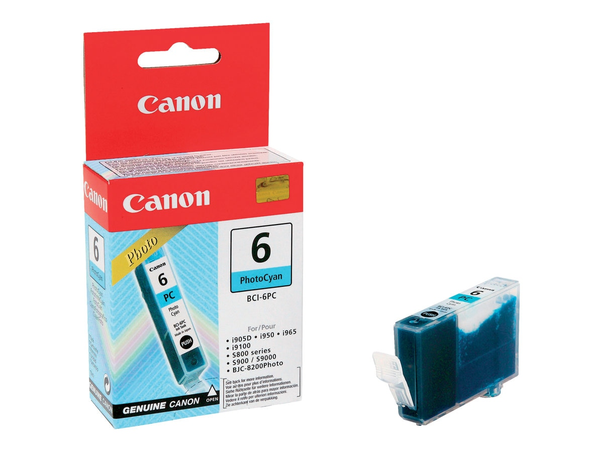 Canon Photo Cyan BCI-6PC Ink Tank, 4709A003, 227785, Ink Cartridges & Ink Refill Kits