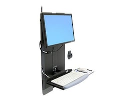 Ergotron StyleView Vertical Lift for High Traffic Areas, Black, 60-593-195, 9229266, Wall Stations