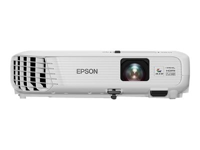 Epson PowerLite Home Cinema 740HD 720p 3LCD Projector, 3000 Lumens, White, V11H764020