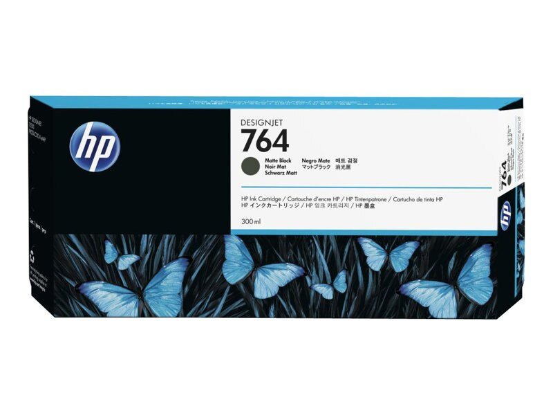 HP 764 (C1Q16A) 300ml Matte Black Designjet Ink Cartridge