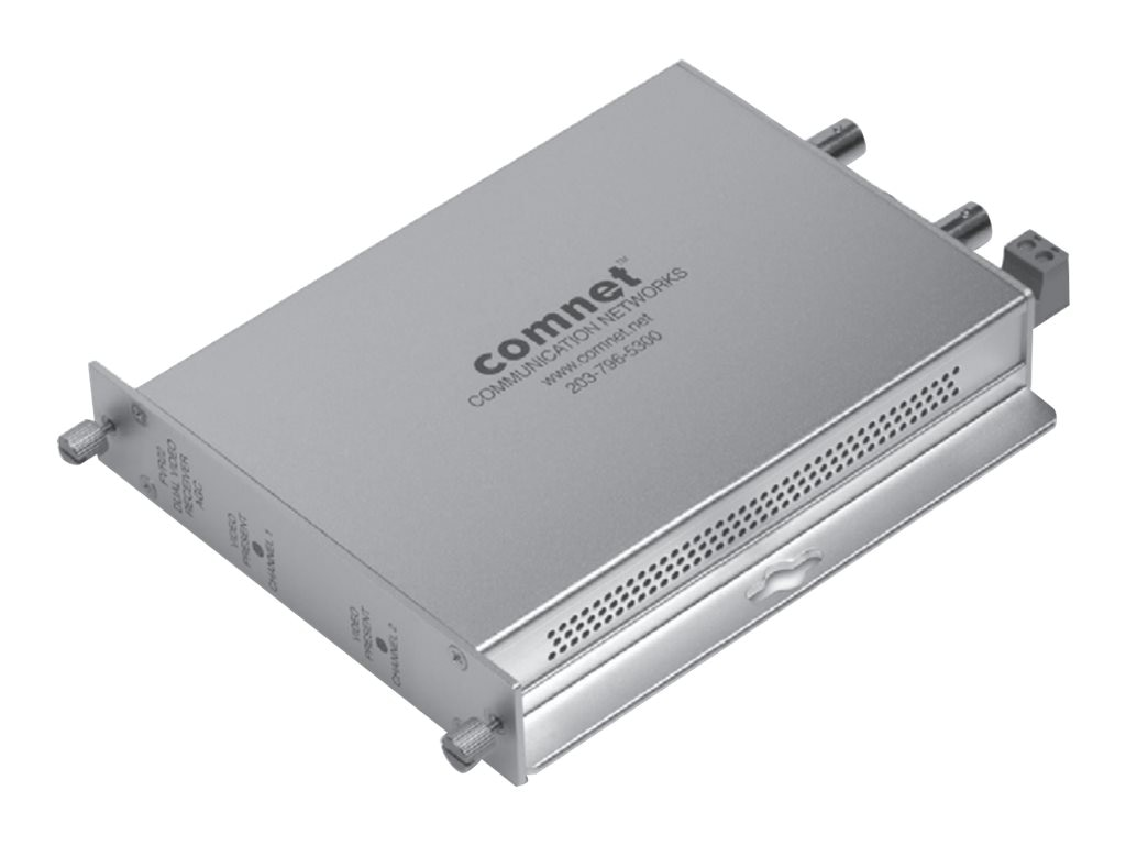 Comnet Multimode Dual Video Receiver with Automatic Gain Control, FVR22, 31175655, Video Extenders & Splitters