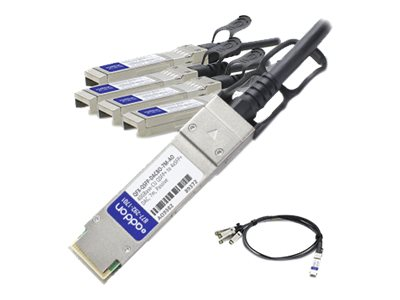 ACP-EP 40GBASE-CU QSFP+ to 4x SFP+ Direct Attach Passive Twinax Cable, 7m