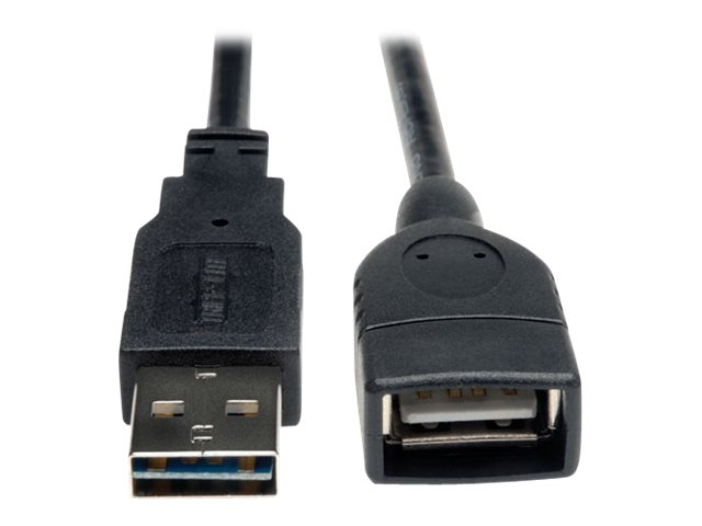 Tripp Lite Universal Reversible USB 2.0 A-Male to A-Female Extension Cable, 10ft, UR024-010