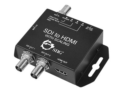 Siig 3G SDI to HDMI Scaler, CE-SD0611-S1, 16691820, Adapters & Port Converters