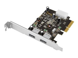 Siig USB 3.1 Type A 2-Port PCIe Host Adapter, JU-P20912-S1, 26548605, Host Bus Adapters (HBAs)