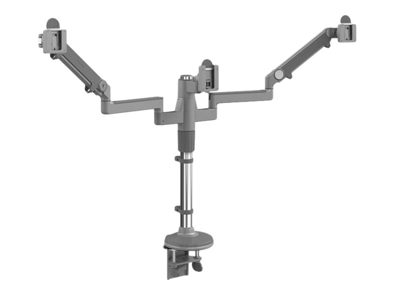 Humanscale MFlex M2 Monitor Arm with Triple Display Support, Clamp Mount, (2) 12 Straight Arm