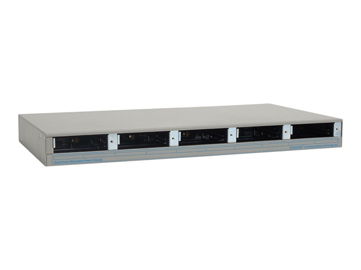 Omnitron I-Converter 5-unit Chassis w  2 Universal AC Power Supplies, 8220-2, 440818, Network Transceivers