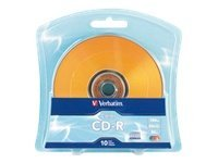 Verbatim 52x Color CD-R Media (10-pack Blister), 97514, 12633753, CD Media