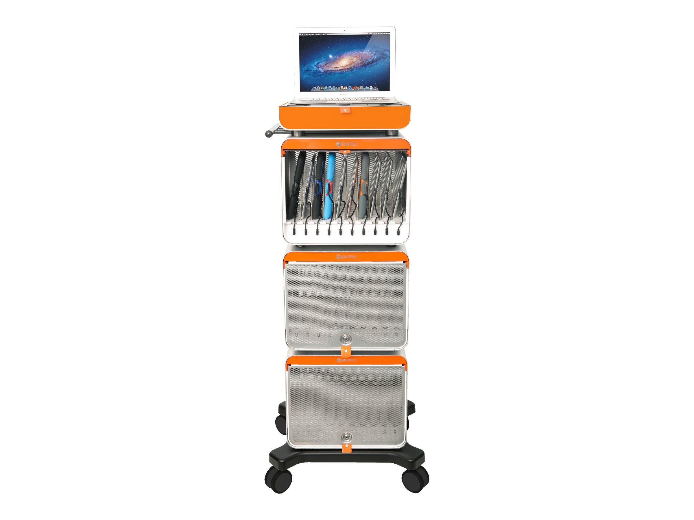 Griffin 30-Unit MultiDock Charging Station for iPad and Tablets, NA38550, 16689367, Computer Carts