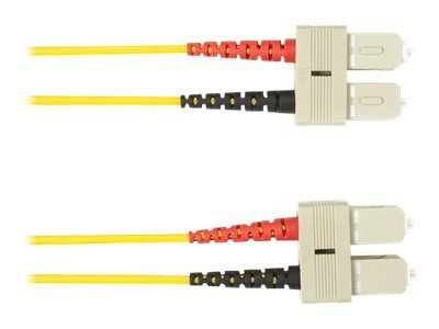 Black Box SC-SC 9 125 OS2 Singlemode Plenum Cable, Yellow, 30m, FOCMPSM-030M-SCSC-YL