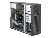 Supermicro SuperWorkstation 5036A-T Mid-Tower, Intel X58, LGA1366, Max 24GB, 4x3.5 SATA HS, 500W PS, SYS-5036A-T, 13734804, Workstations