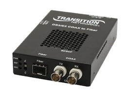 Transition DS3 Converter 2 Coax to SM SC 20KM, SCSCF3014-110-NA, 12078825, Network Transceivers