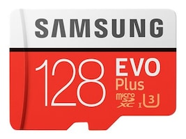 Samsung 128GB EVO Plus MicroSDXC Card with SD Adapter, MB-MC128GA/AM, 33749561, Memory - Flash