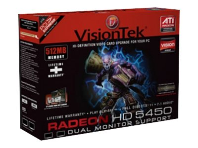 VisionTek Radeon HD 5450 PCIe Graphics Card, 512MB