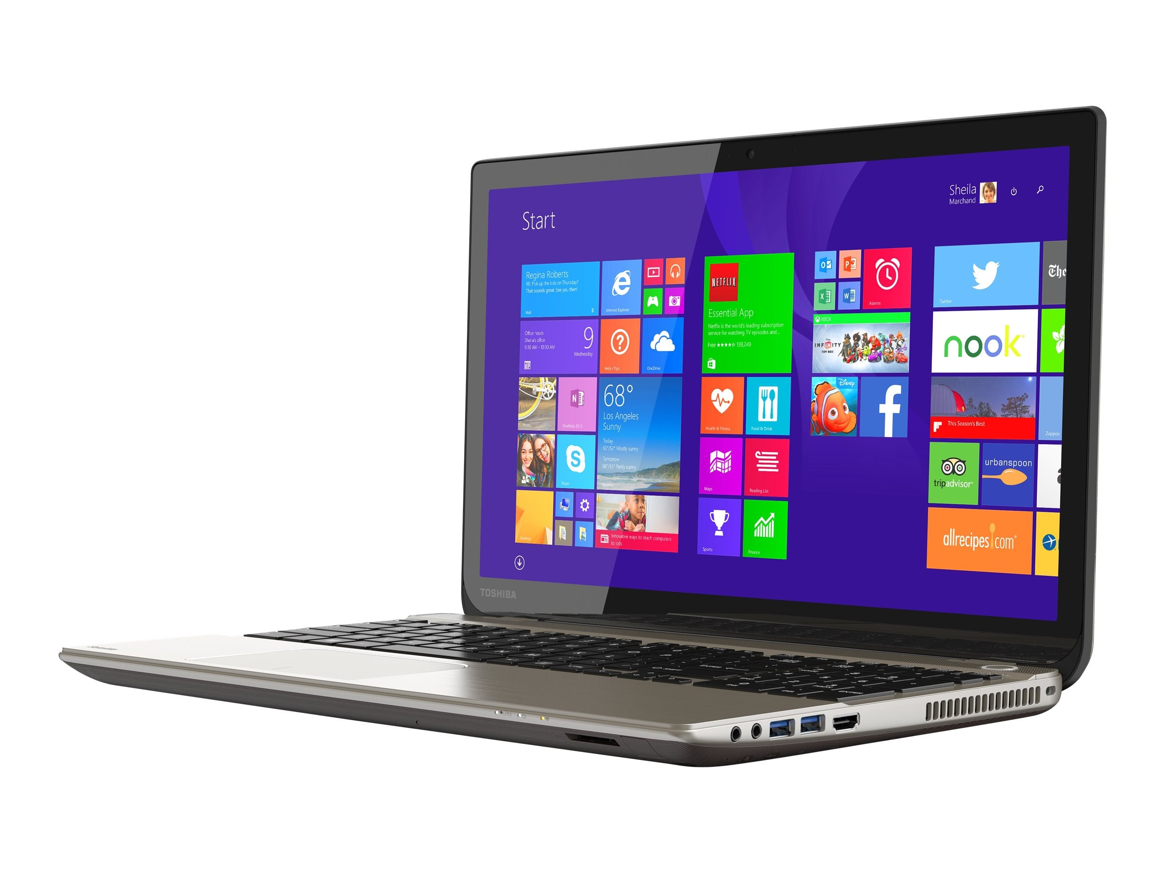Toshiba Satellite P55T-B5262 2.5GHz Core i7 15.6in display, PSPNVU-00U00W, 17372089, Notebooks