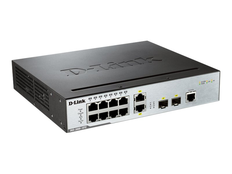 D-Link Switch 10 Port Gig L2 Managed, DGS-3000-10TC, 15744934, Network Switches