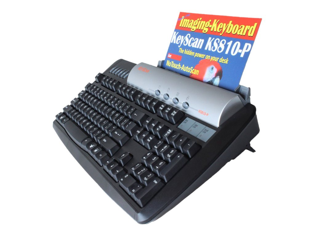 Keyscan Imaging Keyboard Scanner with Integrated Keyboard, Scanner, USB 2 Hub, KS810P, 11401387, Keyboards & Keypads