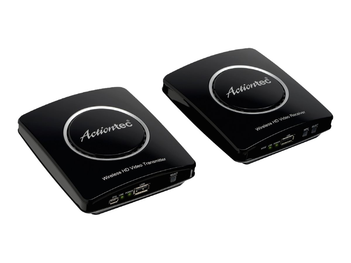 Actiontec MyWirelessTV2 Wireless Video Transmitter and Receiver, Black, MWTV2KIT01, 18233064, Video Extenders & Splitters