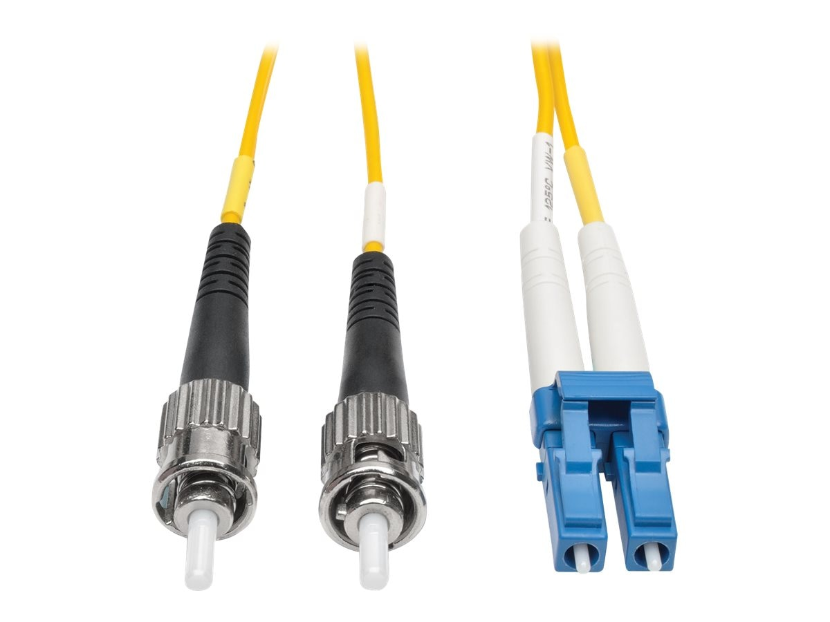 Tripp Lite LC-ST 8.3 125 Singlemode Duplex Fiber Patch Cable, Yellow, 25m