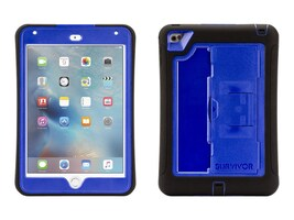 Griffin Survivor Slim Military Duty Anti-Shock Case w  Stand for iPad mini 4, Black Blue, GB41367, 30781451, Carrying Cases - Tablets & eReaders