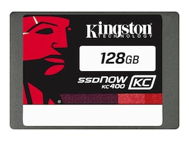 Kingston 128GB SSDNow KC400 SATA 6Gb s 2.5 7mm Internal Solid State Drive, SKC400S37/128G, 31158126, Solid State Drives - Internal