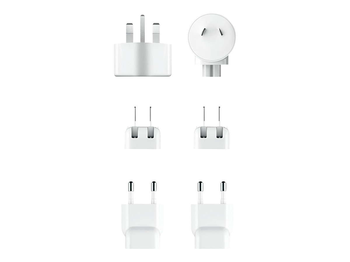 Apple World Travel Adapter Kit w  30-pin to USB Cable, (6) AC plugs, MB974ZM/B