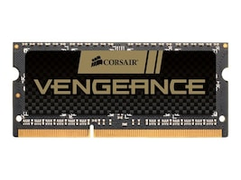 Corsair 4GB PC3-12800 204-pin DDR3 SDRAM SODIMM, CMSX4GX3M1A1600C9, 13458310, Memory