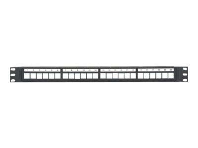 Panduit NetKey 24-Port Patch Panel, NKPP24P, 15270329, Patch Panels