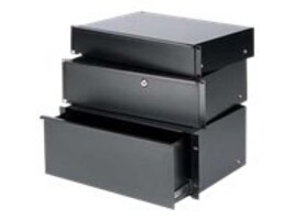 Chief Manufacturing 2U Economy Rack Drawer, Black Powder Coat, ESD-2, 13206446, Rack Mount Accessories