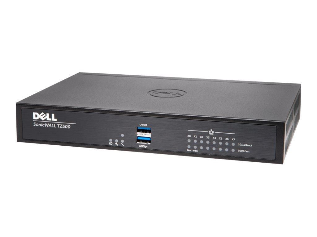Dell SonicWALL TZ500 High Availability Network Security Firewall, 01-SSC-0439, 19744587, Network Firewall/VPN - Hardware