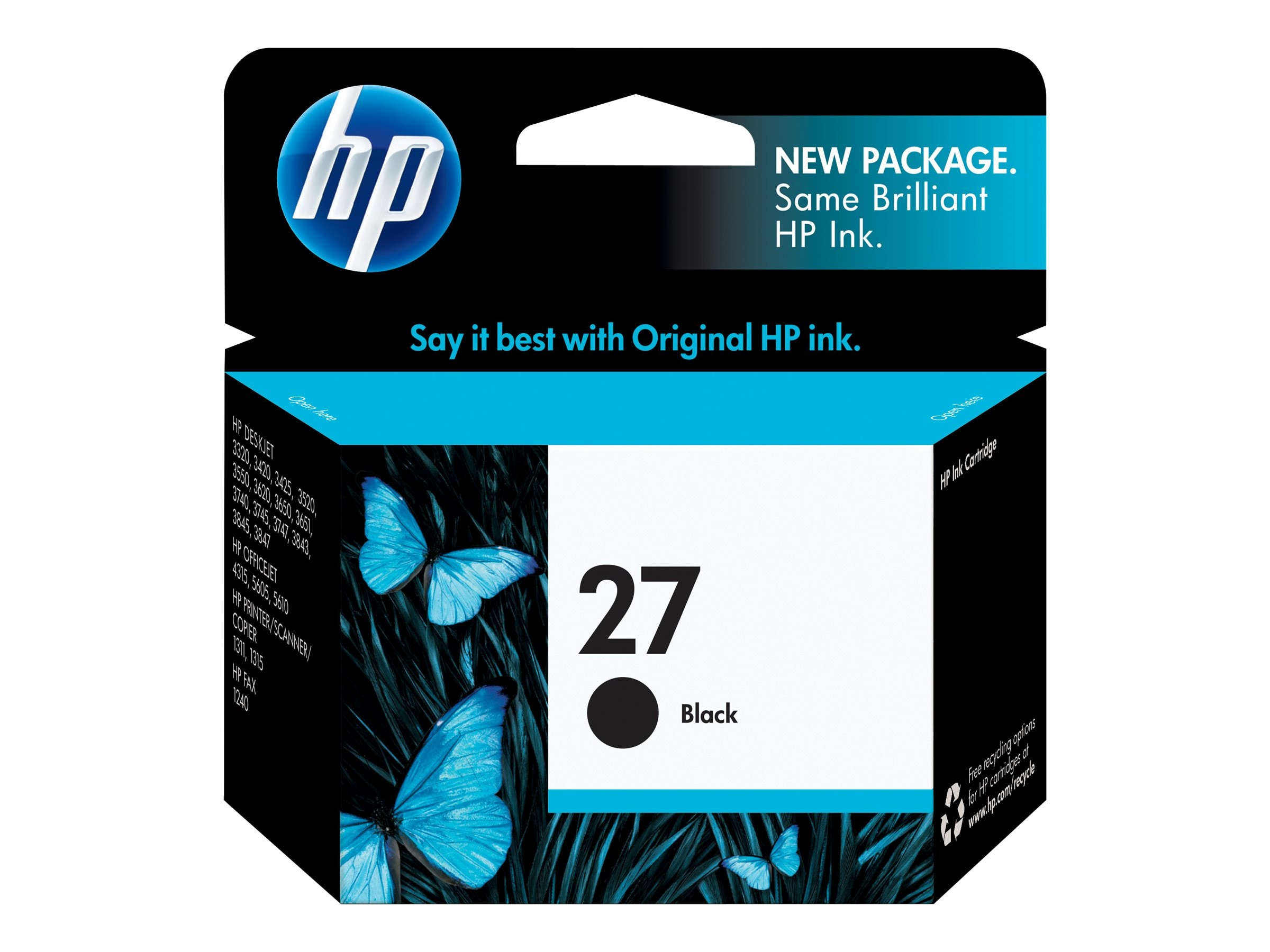 HP 27 (C8727AN) Black Original Ink Cartridge for HP Deskjet Series 3300 & 3400