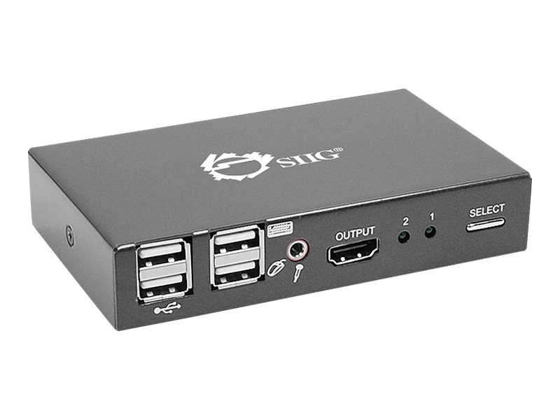 Siig 2-port USB HDMI CE-KV0111-S1 KVM Switch, CE-KV0011-S1