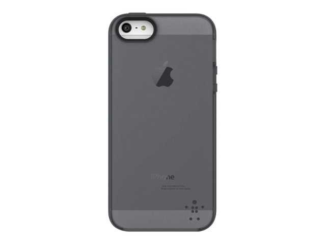 Belkin Grip Candy Sheer Case, Blacktop for iPhone 5, F8W138TTC09, 14860896, Carrying Cases - Phones/PDAs