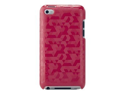 Belkin Emerge 012 Metal Polycarbonate Case for iPod Touch 4G, Paparazzi Pink, F8W011EBC01, 13625843, Carrying Cases - iPod