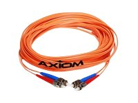 Axiom Fiber Patch Cable, ST-ST, 50 125, Multimode, Duplex, 12m, STSTMD5O-12M-AX, 17724769, Cables