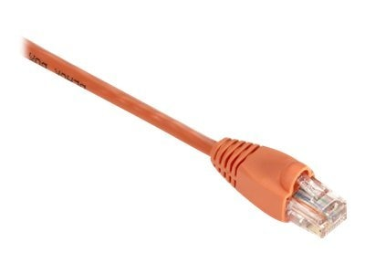 Black Box GigaBase 350MHz CAT5E Snagless Booted Patch Cable, Orange, 2ft