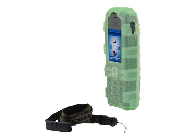 Zcover Silicone Back Open Dock-in-Case for Cisco 7925G 7925G-EX, Green, CI925BDG, 16579416, Carrying Cases - Phones/PDAs