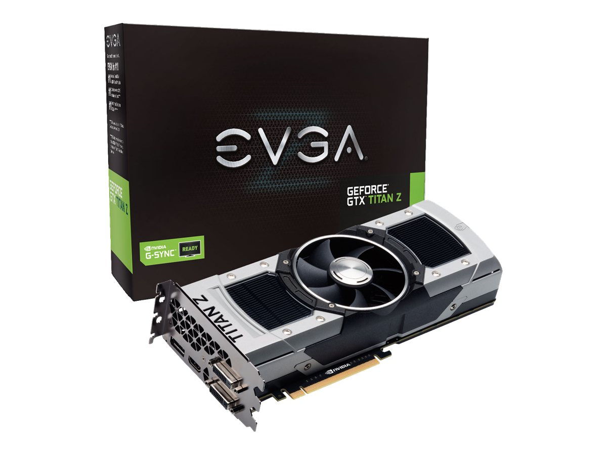 eVGA GeForce GTX Titan Z PCIe Graphics Card, 12GB GDDR5, 12G-P4-3990-KR, 17298595, Graphics/Video Accelerators