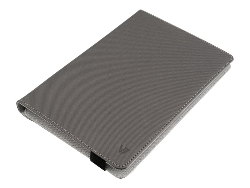 V7 Slim Universal Folio Case for iPad mini or 8 Tablet, Gray, TUC25R-8-GRY-14N, 16888876, Carrying Cases - Tablets & eReaders