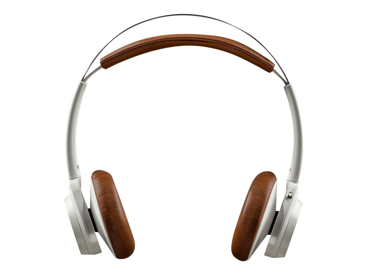 Plantronics Backbeat Sense Wireless Headphones + Mic - White Tan