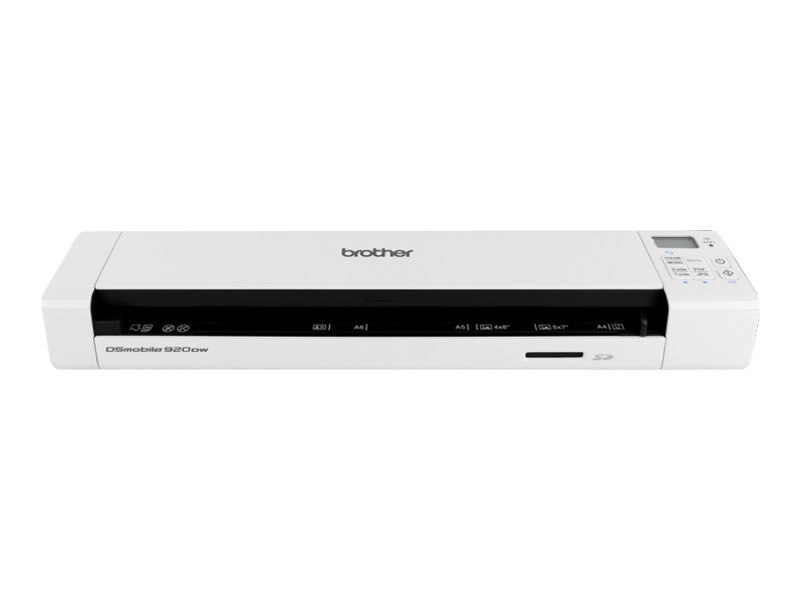 Brother dsmobile 920dw wireless duplex mobile color page for Brother ds 920dw wireless duplex mobile color page scanner white
