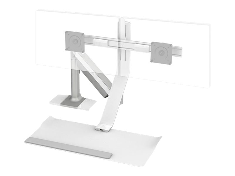 Humanscale QuickStand Lite with Dual Display Support, 24 Crossbar