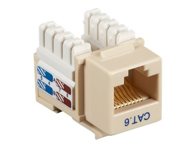 Black Box Cat6 Value Line Keystone Jack, Single, Ivory