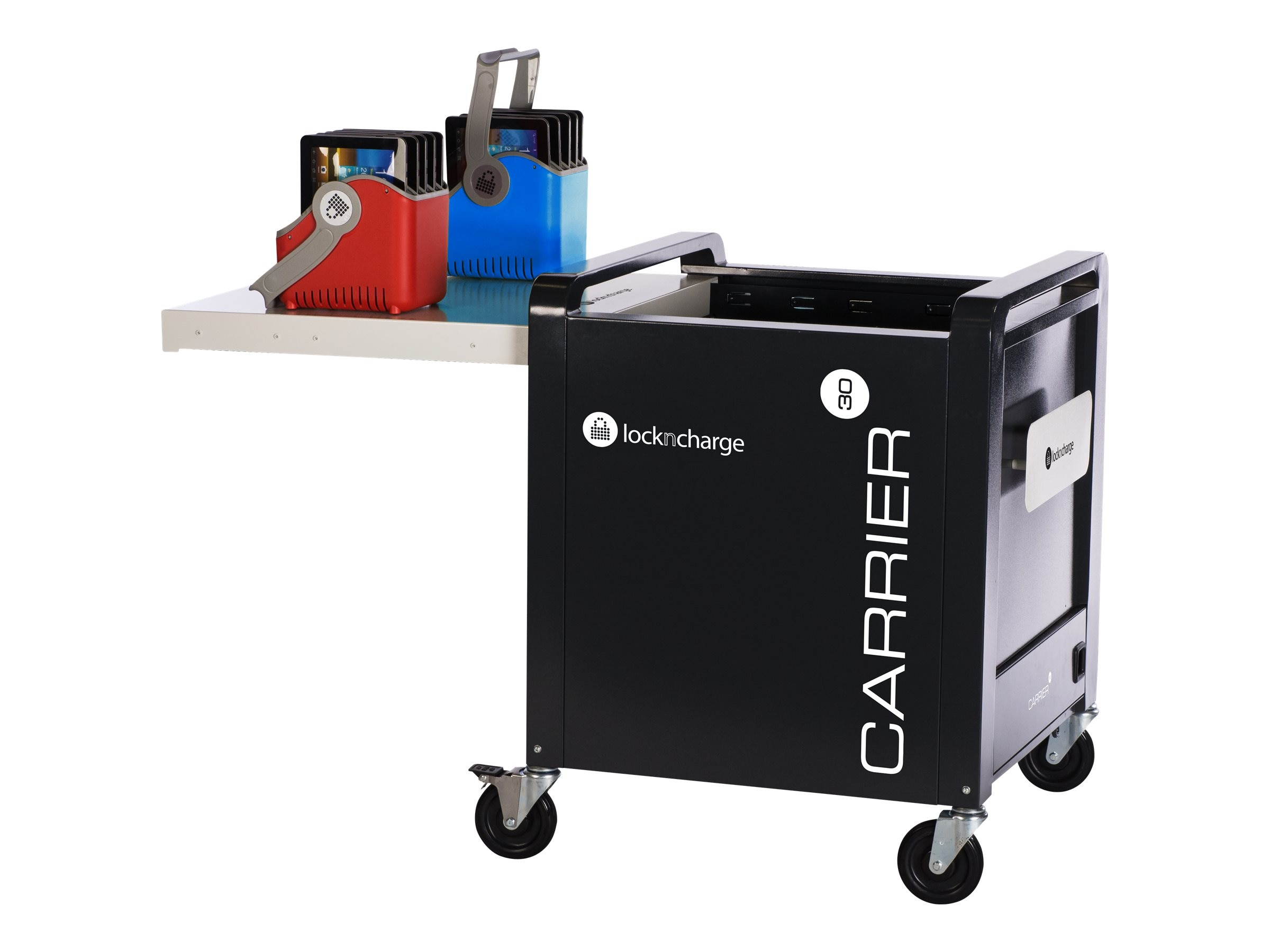 Lock N Charge Carrier 30 Cart with Sync & Charge Tray