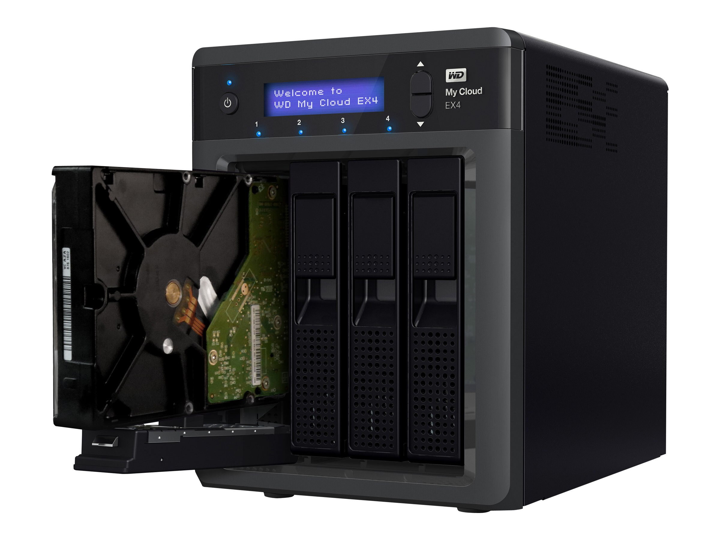 WD 12TB My Cloud EX4 Personal NAS, WDBWWD0120KBK-NESN, 16400578, Network Attached Storage