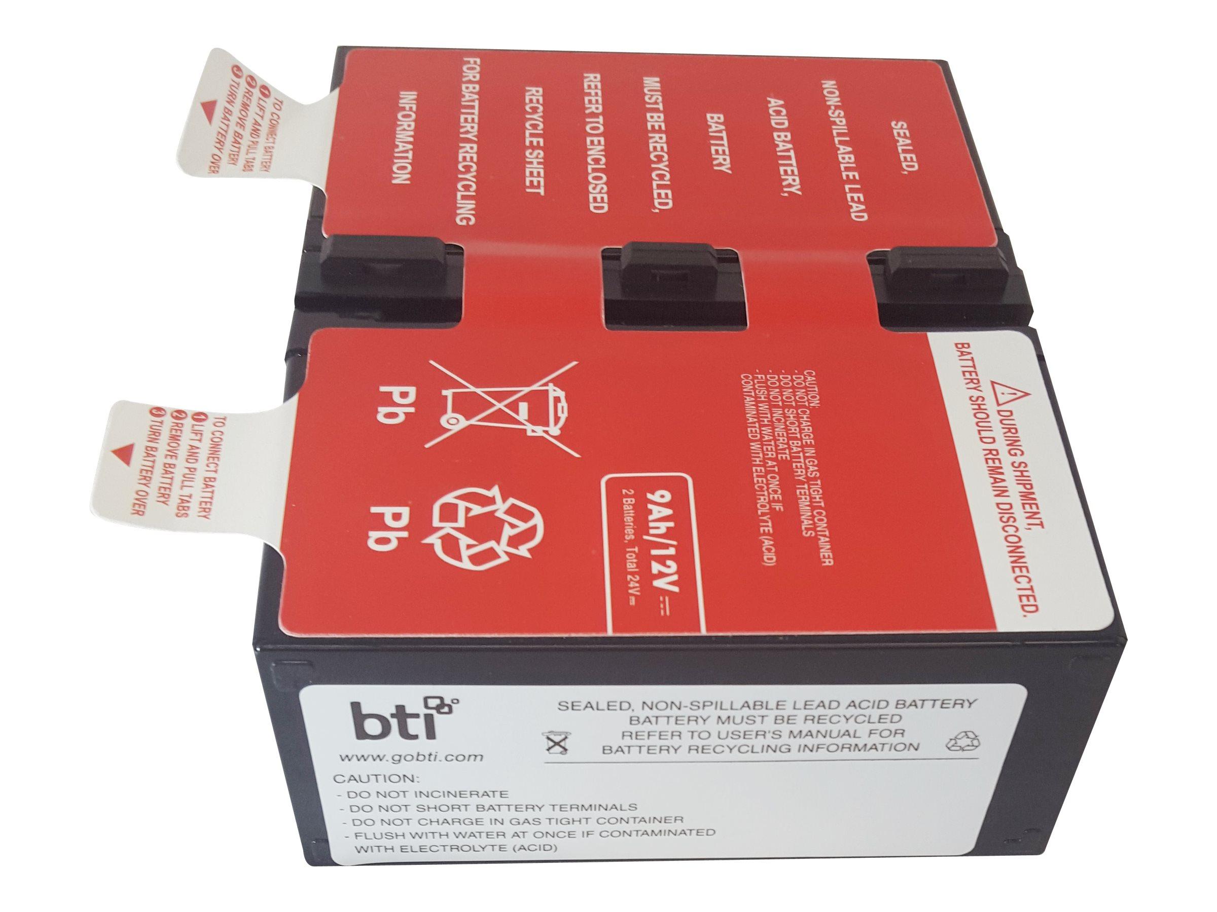 BTI BN1250G Replacement Battery, APCRBC124-SLA124, 31776160, Batteries - Other