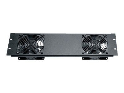 Black Box Quiet Fan Panel Dual Fan, 3U, RMT079, 9638297, Rack Cooling Systems