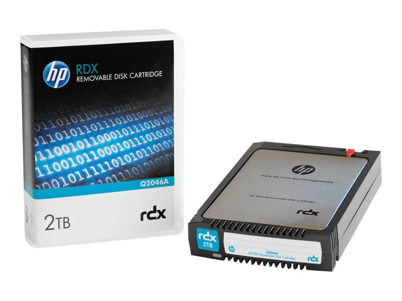 HPE 2TB RDX Removable Disk Cartridge, Q2046A, 17242778, Removable Drive Cartridges & Accessories